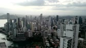 Aerial view of Panama City skyscrapers, in downtown Panama city.