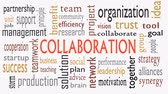 spolupracovat : Collaboration concept in word cloud isolated on white background - Illustration