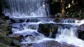 forest : Waterfall Dziki in Karpacz, Karkonoszy, Poland Stock Footage