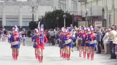 manifestação : SUMY - JUNE 28: Girls drummers performing at celebration of the Day of Constitution of Ukraine on June 28, 2012 in Sumy, Ukraine  Vídeos