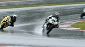 gp : MOSCOW - JUNE 5: Unidentified rider participates in the Race Cup Moscow Region Governor on June 5, 2016 in Moscow Raceway Stock Footage