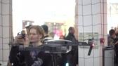 mavic : Moscow, Russia - April 1, 2017: Test flight of Mavic Pro quadcopter at the opening of DJI Authorized Store Stock Footage