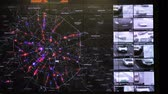 polis : Moscow, Russia - February 9, 2018: Interactive map in the traffic monitoring center shows statistics of traffic accidents and violations of traffic rules