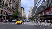 ny : New York, USA - September 6, 2018: City life in Manhattan at day time Stock Footage