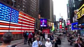 реклама : New York, USA - September 6, 2018: Time Square day time cityscape