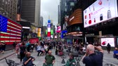 taksi : New York, USA - September 6, 2018: Time Square day time cityscape
