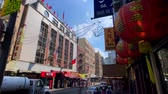 ny : New York, USA - September 6, 2018: Panorama of China Town at day time