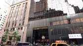 donald trump : New York, USA - September 6, 2018: Trump tower in Manhattan exterior at day time