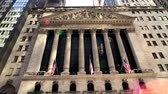 kreis : New York, USA - 6. September 2018: New York Stock Exchange Gebäude am Tageszeitäußeren