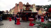 advento : Wroclaw - Poland, November 24, 2018: People attend christmas market in old city