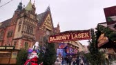 adwent : Wroclaw - Poland, November 24, 2018: People attend christmas market in old city