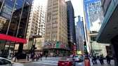 chicago : Chicago, USA - September 16, 2018: Panorama of downtown at day time, observing architecture, city life