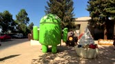 google campus : Mountain View, USA - September 25, 2018: Android statue in Googleplex headquarters main office
