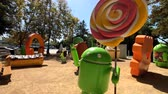 lolipop : Mountain View, USA - September 25, 2018: Android statue in Googleplex headquarters main office