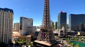 реплика : Las Vegas, USA - September 10, 2018: Eiffel tower at Paris casino aerial view from Ballys hotel at sunny morning