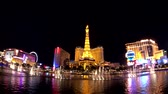 las vegas strip : Las Vegas, USA - September 10, 2018: Show of music Bellagio fountains, cityscape at night