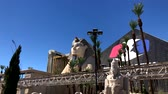 Las Vegas, USA - September 10, 2018: Tourists visiting the sights at sunny day time