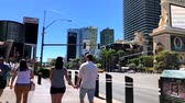 las : Las Vegas, USA - September 10, 2018: Tourists visiting the sights at sunny day time