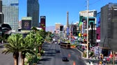 las : Las Vegas, USA - September 10, 2018: Las Vegas boulevard top view at sunny day time Stock Footage