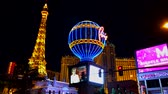 Las Vegas, USA - September 10, 2018: Eiffel tower at Paris casino at night