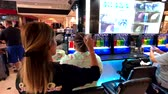 Las Vegas, USA - September 10, 2018: Tourists attend oxygen bar with hair massage in casino