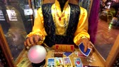 Las Vegas, USA - September 10, 2018: Zoltar fortune teller machine in casino Wideo