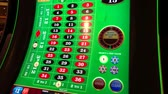 Las Vegas, USA - September 10, 2018: Roulette slot machines at MGM casino Wideo