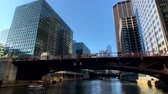 michigan : Chicago, USA - September 10, 2018: Downtown landmarks at sunny day time