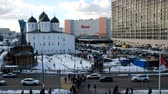 přeplněný : Moscow, Russia - March 15, 2019: Crowd of people go from work to the subway