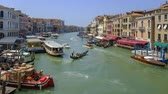 oud huis : Venice, Italy - August 4, 2019: Grand canal summer day time landscape timelapse Stockvideo