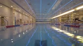 Moscow, Russia - March 6, 2020: Panorama of luxury swimming pool in Radisson Collection Hotel Stok Video