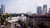 southeast asia : Aerial view in Malaysia, Kuala Lumpur old KTM railway train station in the city