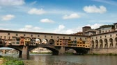 2 September 2018: Florence in Italy. Ponte Vecchio on a sunny day. The famous medieval bridge over the Arno river, in Florence, Italy.