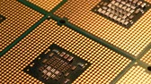 Detail of CPU Chip Processors, UHD 4K Video Dostupné videozáznamy