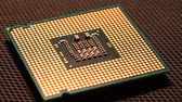 anakart : Close up of CPU Chip Processor UHD 4K Video