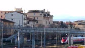 FLORENCE, ITALY - FEBRUARY 23, 2019: Florence Campo di Marte Station. Frecciarossa Train Departure. Ultra High Definition, 4K