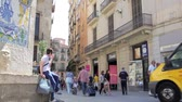 caótico : Street life timelapse in Barri Gotic.
