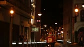 katalánsko : BARCELONA - AUGUST 10:  Night street traffic and pedestrians