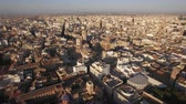 cityscape : Aerial shot of Valencia city centre with its architecture and ancient cathedral. Spain, Europe
