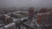 kondominium : Aerial city view with apartments houses and traffic on the roads on cloudy winter day. St. Petersburg, Russia Dostupné videozáznamy