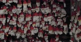 handiwork : Large collection of children made Santa Claus craftworks. Christmas arts and crafts Stock Footage