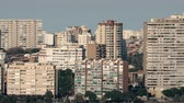 high rise buildings : Alicante cityscape with apartment blocks, Spain. Densely built-up residential area Stock Footage