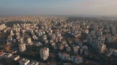 antalya : Aerial shot of vast areas built-up with multistorey houses. Panorama of populous city. Antalya, Turkey Stock Footage