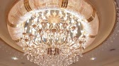 style : Luxury crystal chandelier on the ceiling