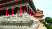雄大な : The building was designed by the Chinese architecture in the Borom Racha Kanchana Phisek Temple 動画素材