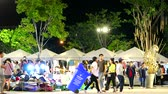 夜遊び : Chonburi Thailand - Sep 1 2019, people are shopping in night market and relax in weekend