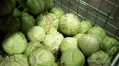 kruidenier : sale of raw cabbage on the counter of a hypermarket