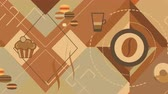 Shape flat coffee background
