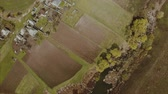appalachian : Landskape of village in spring time. Aerial view. Stock Footage