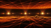 gold coloured : 3D Orange Wireframe Landscape in Cyberspace VJ Loop Background